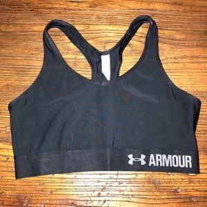 NEW Under Armour Mid sports bra M black